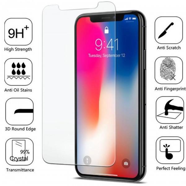 iPhone XR 6,1 11 Schutzglas 3D 9H Panzerfolie Displayfolie Echtglas Schwarz Glas