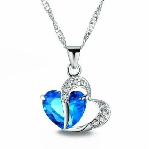 Herz & Kristall als Halskette - Heart Love