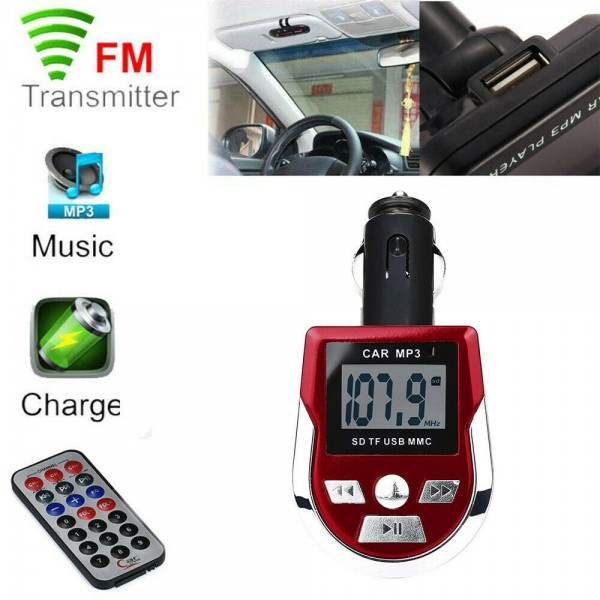 Auto MP3-Player inkl. Fernbedienung, in rot