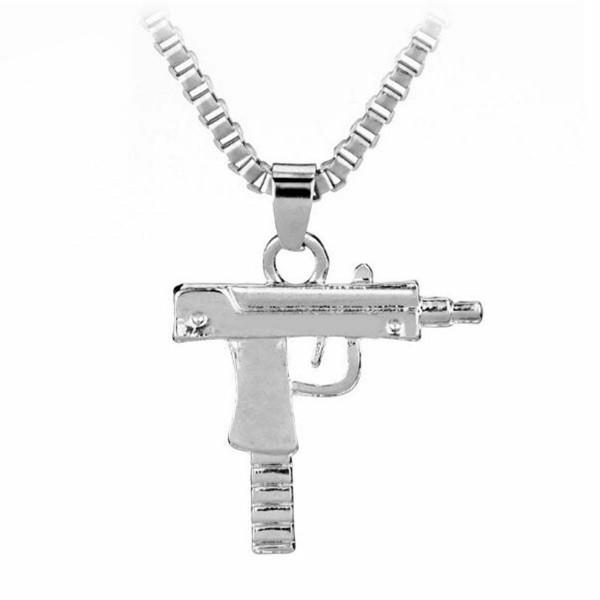 Pistole als Halskette für Hip Hop