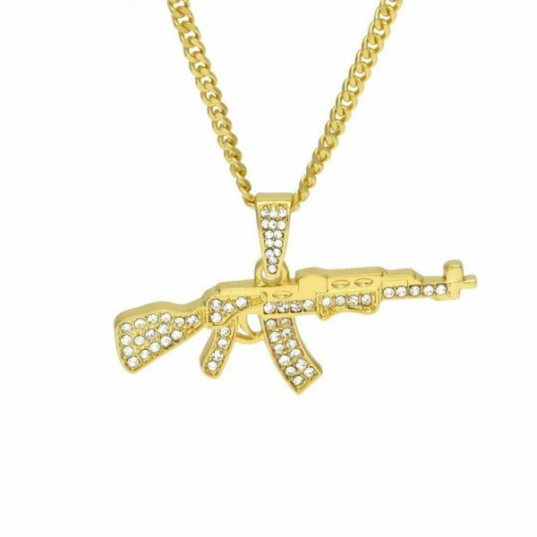Hip Hop - Ak47 Waffe als Halskette