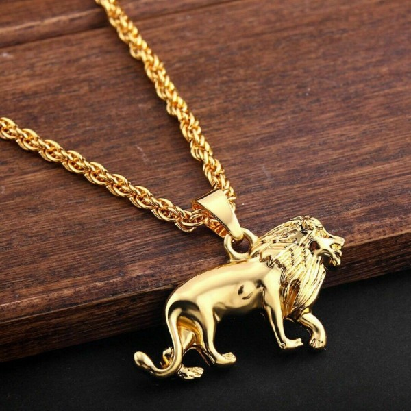 Löwe Halskette für Männer und Hip Hop