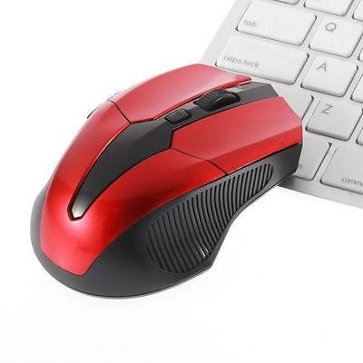 2,4GHz kabellose Maus + USB Empfänger, rot-schwarz