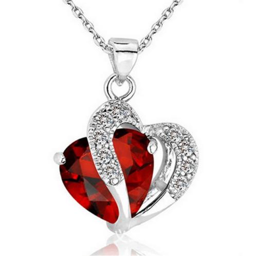 Herz & Kristall als Anhänger für Damen