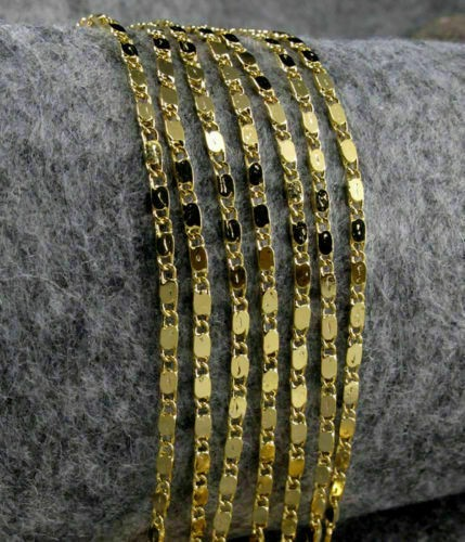 Massive Halskette für Damen in 22 Zoll