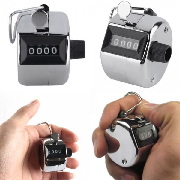 Handzähler mechanisch in Silber
