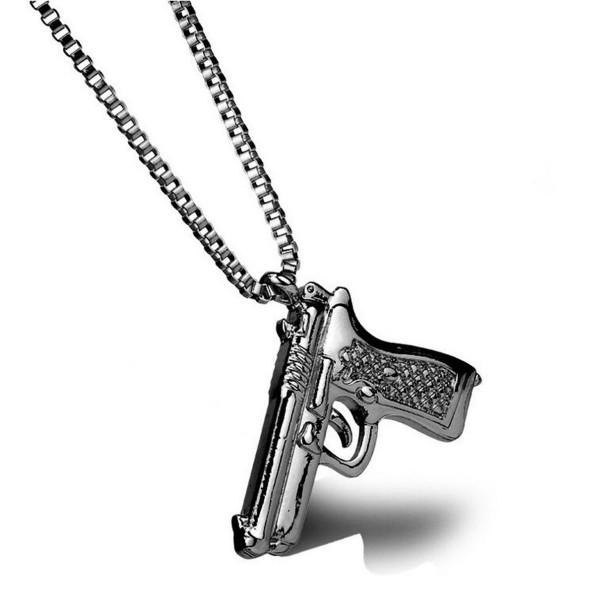 HIP HOP Waffe als Pistolen Halskette