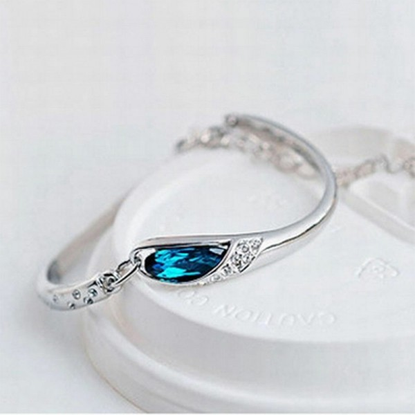 Armschmuck in Blau und Kristall für Damen