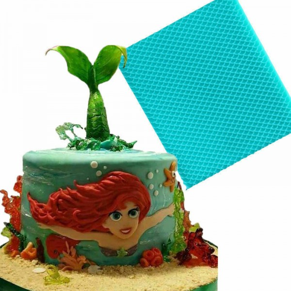Meerjungfrau Kuchen & Schokoladenform