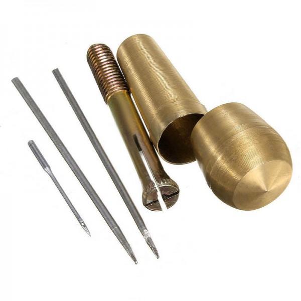 Segel-Zelt-Reparatur-Werkzeug + 2 Nadeln Set Nähahle für Leder Stoff Markise