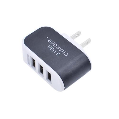 USB-Ladegerät-Adapter für US-Stecker, schwarz-weiß