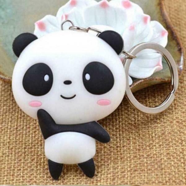 Cartoon Panda als Schlüsselanhänger