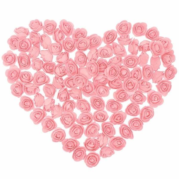 100x künstliche Rosenköpfe für Hochzeit