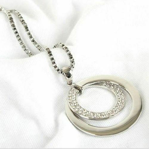 Modeschmuck Kreis - Anhänger Halskette