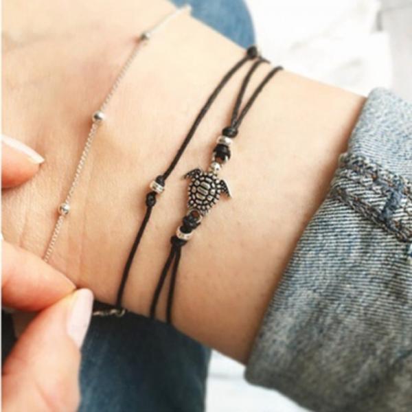 Schildkröte als Armband und Fußkette
