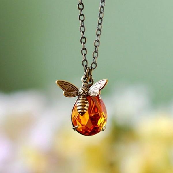 Honigbiene Anhänger als Halskette