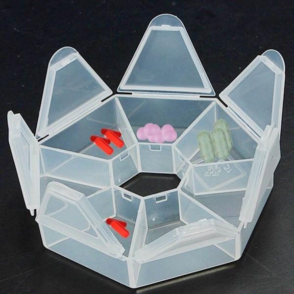 7 Tage wöchentlich Pillenbox Behälter