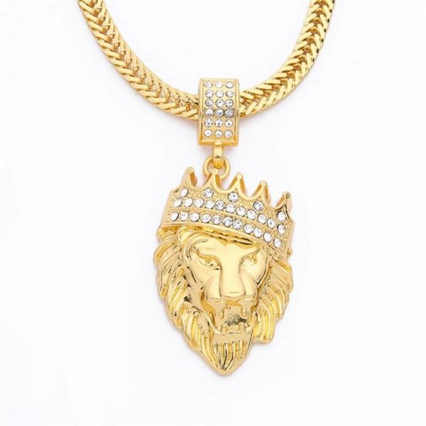 Vergoldete Löwen Halskette - ideal für Hip Hop Rapper