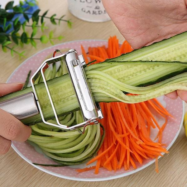Edelstahl Schäler in Silber für Gemüse