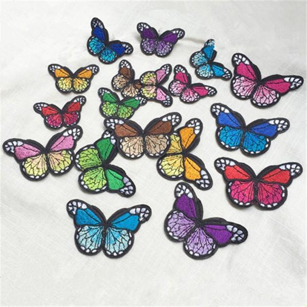 10x Aufnäher Flicken als Schmetterling