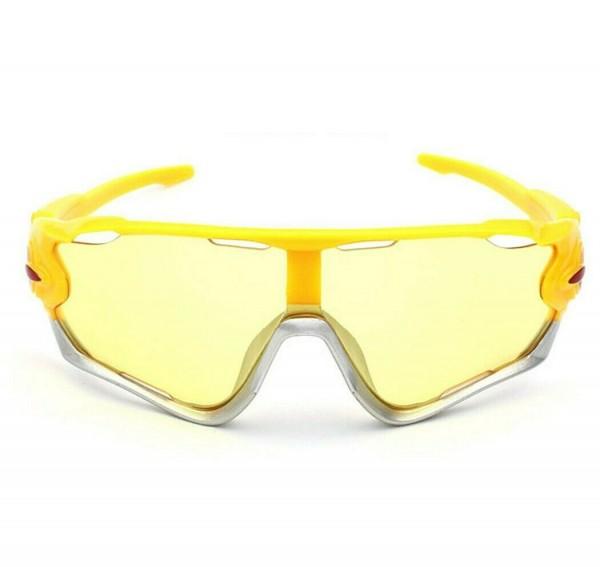 UV400 Sonnenbrille HD Nachtsicht Radfahren Reiten Fahren Brille Sport Brille