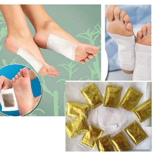 10x Fußpflaster als Entgiftung für die Füße