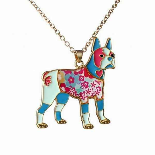 Hund Halskette Tier Gold Kette Anhänger Damen Schmuck Geschenk