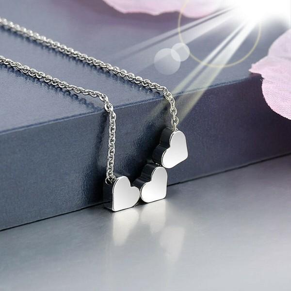 3 Herze in Silber als Halskette & Schmuck