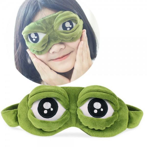 Pepe der Frosch Trauriger Frosch 3D Augenmaske Schlafstütze Schlaf
