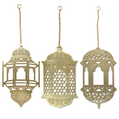 3 Teile/Satz Islam Holzlaterne als Dekoration