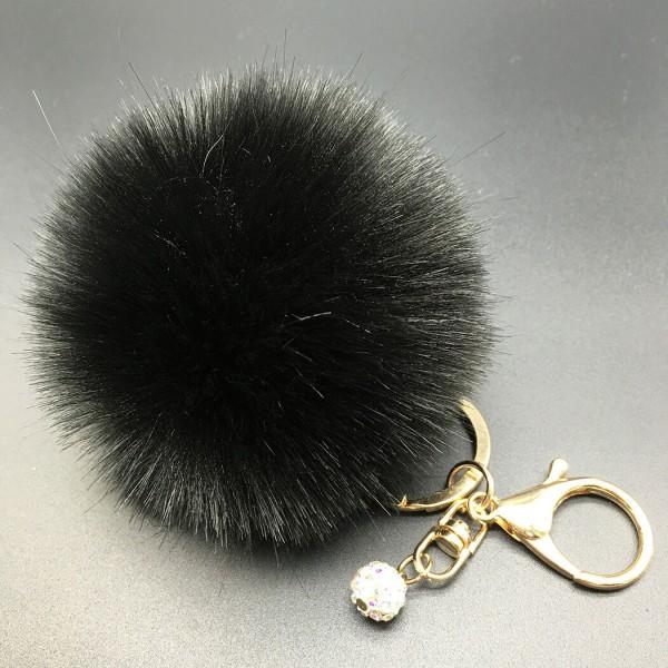 Kaninchen Pelz - Fell als Schlüsselanhänger