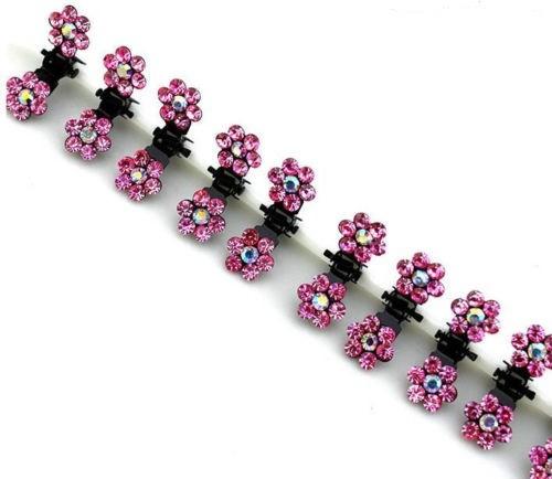 6x Mini Haarklammern ideal für Hochzeit