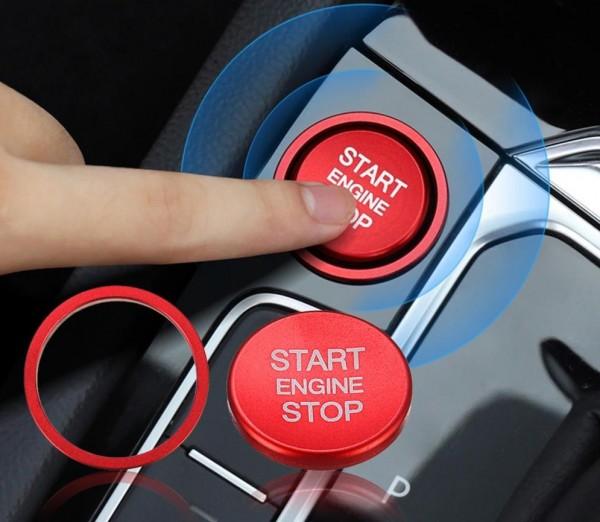 Start Stop Ring mit Druckknopf für Audi A4 A5 A6 A7 Q3 Q5