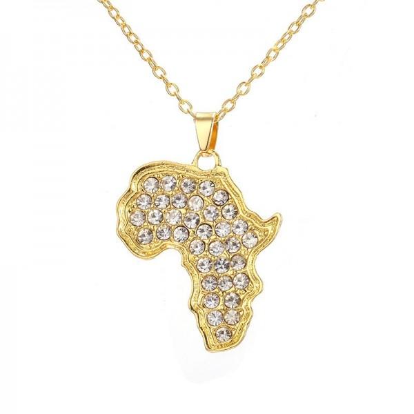 Afrikanischer Kontinent Halskette