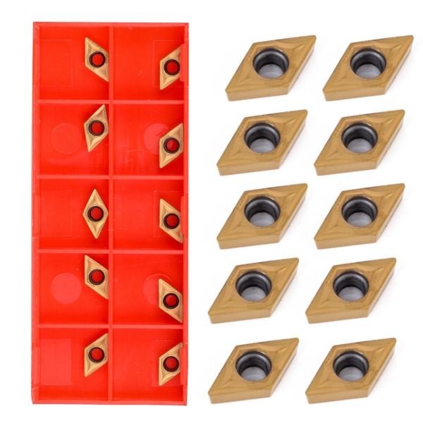 10tlg Wendeschneidplatten Wendeplatten für Drehmeißel DCMT070204 US735 DCMT21.51