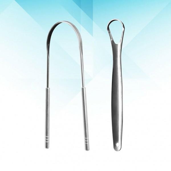 Zungenschaber Dental Zunge Pinsel, Zungenreiniger aus Edelstahl