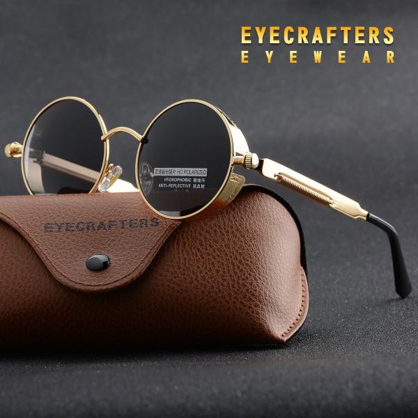 Runde verspiegelte Retro-Sonnenbrille