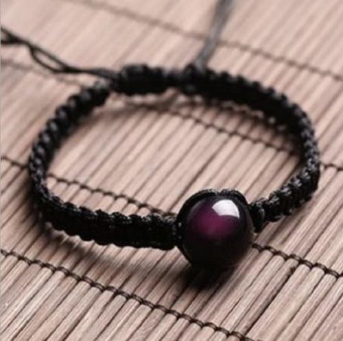 Frauen Männer schwarz Natur Turmalin Stein Anhänger Halskette Kristall Edelstein Armband