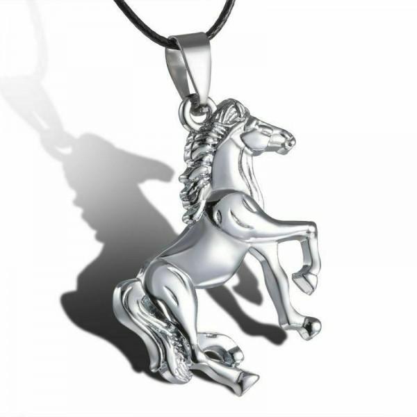 Pferd Halskette in Silber