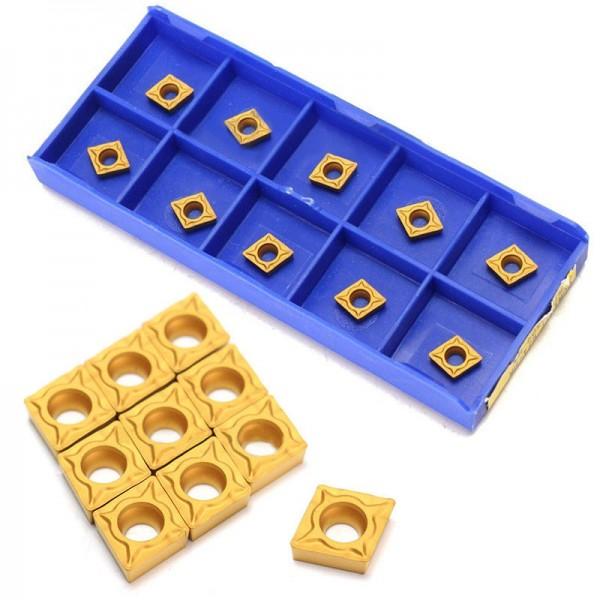 10 Stück Wendeschneidplatten Wendeplatten für Innendrehmeiß CCMT060204-HM YBC251