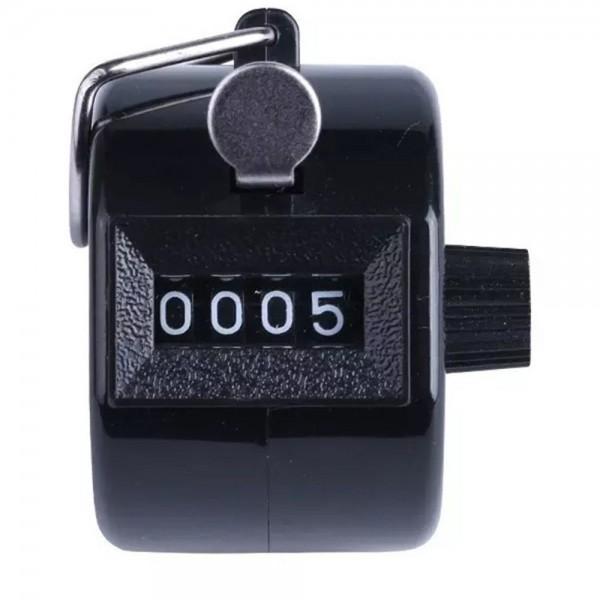 Mini Schrittzähler 4-Stellig in Schwarz