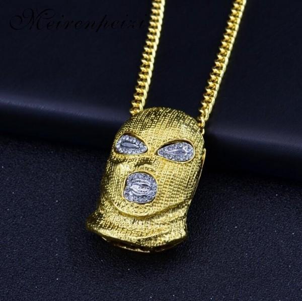 Sturmhaube / Balaklava Halskette in Gold